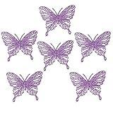 Arbre de Noël Décoration de luxe–Paillettes Papillons x 6(Violet)