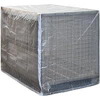 NOOR Palettenhaube Haube für Gitterbox oder Europaletten 125 x 85 x 98 cm mit Reißverschluss Paletten Haube aus hochwertiger Gitterfolie für staubfreies Einlagern von Paletten UV-beständig