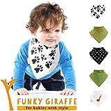 Girafa - Juego de 5 bandanas baberos por Funky Giraffe