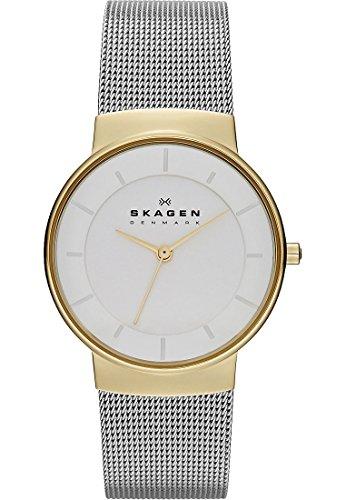 Skagen Damen-Armbanduhr Analog Quarz (One Size, weiß)