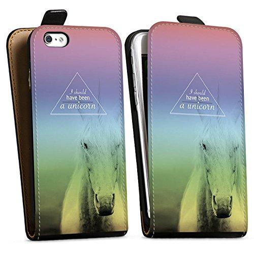 Apple iPhone X Silikon Hülle Case Schutzhülle Einhorn Sprüche Unicorn Downflip Tasche schwarz