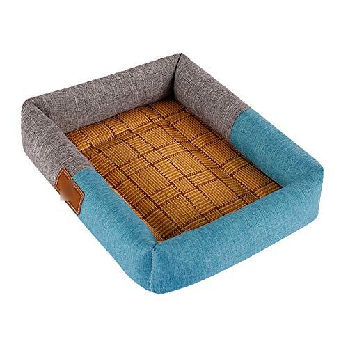 YF Graue Und Blaue Haustierbett-Sommermatten-Haustierversorgungen 77 * 62Cm -