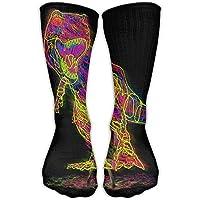 Men Women Light Dinosaur Dino Cotton Crew Athletic Sock Casual Socks