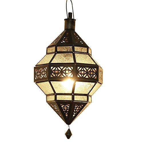 albena Marokko Galerie 13-131 Trob lámpara oriental estilo marroquí 30 cm cristal blanco
