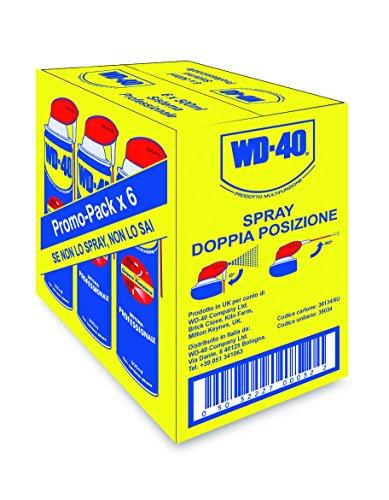 WD-40 Prodotto Multifunzione - Lubrificante Spray con Sistema Professionale Doppia Posizione - 500 ml, 6 Pezz