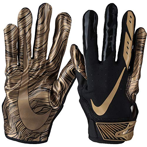 Nike Vapor Jet 5.0 Sonderedition, American Football Skill Handschuhe - schwarz/Gold Gr. XL