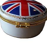 Boîte à bijoux en porcelaine fine–UJ Drapeau...