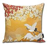 Rasyko - Funda de cojín con diseño de Kimono japonés, hogar, sofá, Cama o Coche, tamaño: 45,7 x 45,7 cm