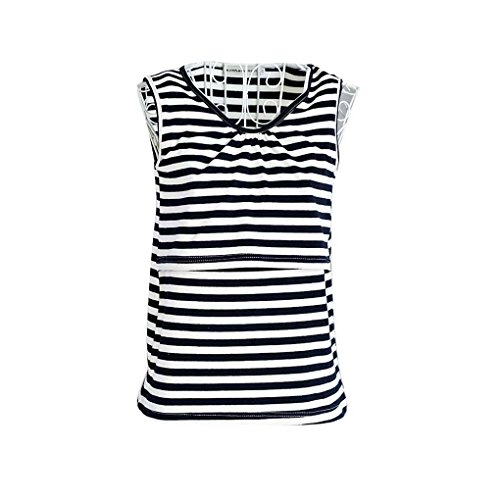Arichtop Frauen Mutterschaft Stillen Weste Elastische Baumwolle Pflege Tank Tops Kleidung Schwangere Weiche T-Shirt (Baumwoll-t-shirt Weiches)