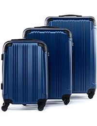 FERGÉ® Juego de 3 maletas de viaje QUEBEC trolley funda rígida 4 ruedas