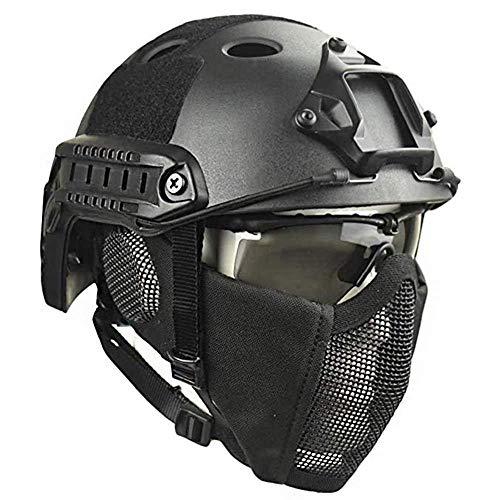 BUG-L Outdoor Tactical Schutzhelm, Tactical Helm & Schablonenmaske Airsoft Paintball Shooting Protection CS Feldspiel