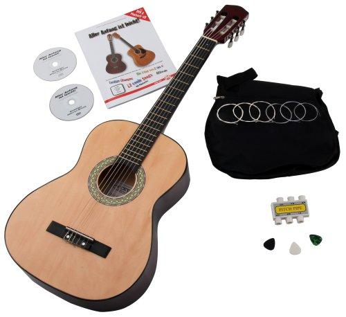 Classic Cantabile AS-851 3/4 Konzertgitarre Starter Set (Akustik-volle Größe-gitarre)