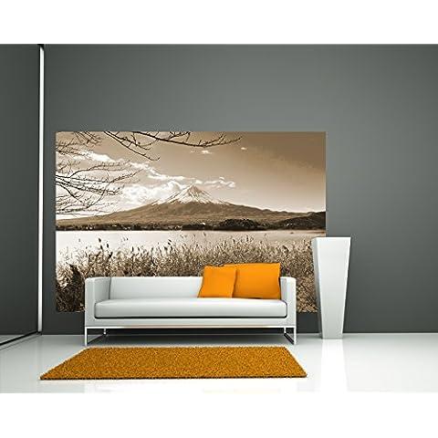 "Bilderdepot24 Fotomurale autoadesivo ""Fuji in autunno - sephia"" 230x150 cm - direttamente dal produttore"