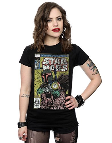 Star Wars Donna Boba Fett Comic Maglietta Small Nero