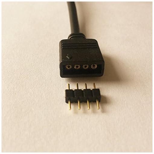 2x Cavo Splitter LED 4 Pin 1 a 2 Cavo Divisore Striscia LED Distribuzione 1 to 2 Y Splitter Nastro LED Connettore Angolare Connector Prolunga Collegamento per SMD 5050 3528 2835 RGB LED Strip, Nero