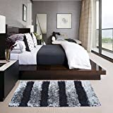 Glamkaart Black and Grey Soft Shaggy Rug 2x5 Feet - 3 Days Special Offer Price