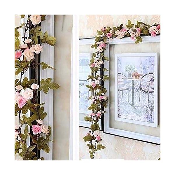 omufipw – Guirnalda de flores artificiales para decoración de casa, jardín, boda, fiesta naranja