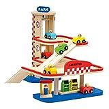 BINO 50x 36x 40cm 2Boden Holz Parking Garage Spielzeug (Mehrfarbig)
