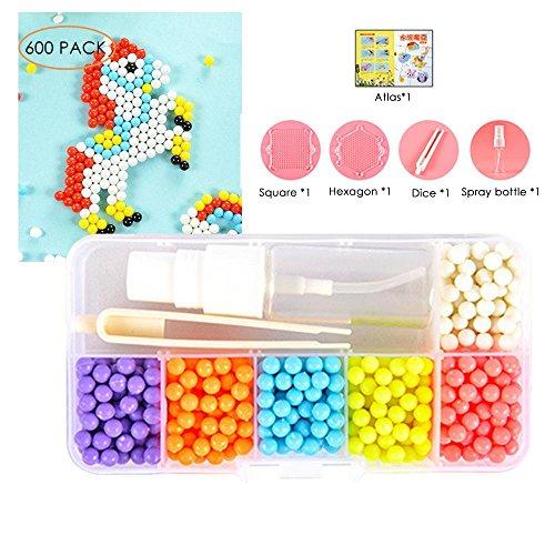 Preisvergleich Produktbild Pawaca Water Sticky Beads Set Kinder Lernspielzeug - 6 Farben 600 Perlen Kunsthandwerk,  Kinder DIY Lernspielzeug
