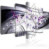 murando - Bilder 200x100 cm - Vlies Leinwandbild - 5 Teilig - Kunstdruck - modern - Wandbilder XXL - Wanddekoration - Design - Wand Bild - Blumen Orchidee Diamant b-A-0238-b-p
