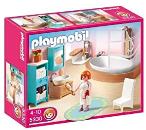 playmobil 5330 salle de bains avec baignoire et pare douche jeux et jouets. Black Bedroom Furniture Sets. Home Design Ideas