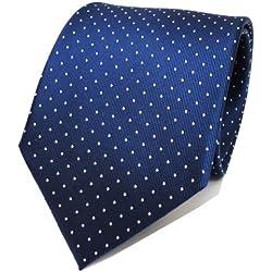 TigerTie diseñador corbata de seda - azul saphir-azur plata lunares