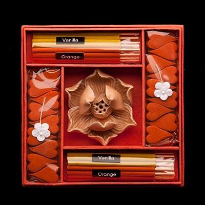 Blaze On® Lotus Incense & Candle Gift Set Orange by Blaze On®