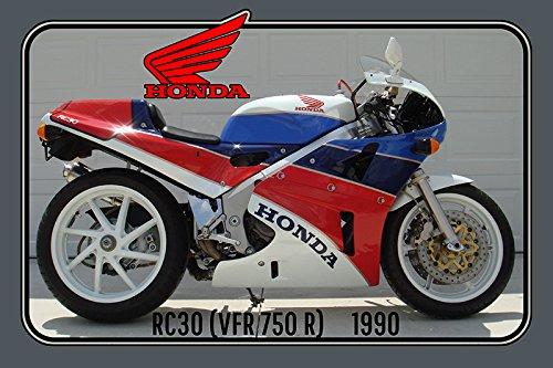Honda RC30 1990 112PS motorrad, motor bike, motorcycle blechschild (Honda Motorrad Blechschild)