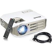 Vidéoprojecteur, Abask 1080P HD 3100 Lumens LCD Portable Théâtre Domestique Multimédia , Soutenir HDMI, USB, AV, VGA, pour le TV,/Xbox/Jeux Video/ HD Vidéo Entrées Cinéma Privé Divertissements à Domicile