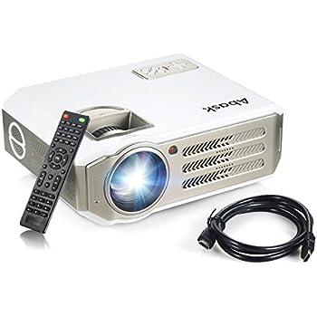 Vidéoprojecteur, Abask 1080P HD 3100 Lumens LCD Portable Théâtre Domestique Multimédia , Soutenir HDMI, USB, AV, VGA, TV,/Xbox/Jeux Video/ HD Vidéo Entrées Cinéma Privé Divertissements à Domicile