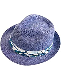 07e373115a7cc fangkuai-hat Straw Trilby Hat for Spring Summer Mens Boys Womens Contrast  Fedora Sun Hat