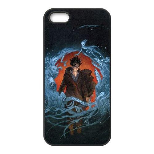 Deathly Hallows coque iPhone 4 4S Housse téléphone Noir de couverture de cas coque EBDXJKNBO11346