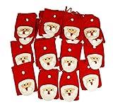 HAAC Adventskalender Advent Girlande mit 24 Weihnachtsmann Säckchen Filz für Weihnacht Weihnachten