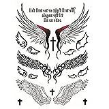 NaiCasy Temporäre Tattoos Aufkleber Engel Design Flügel Kreuz Sexy Produkte für Frauen Wasserdichte Tattoos Aufkleber 1 Pc