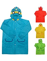 BOMIO Kinder Regenmantel mit Kapuze verschiedene Motive und Farben