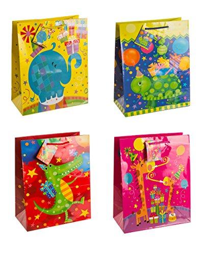 ETI bolsas de regalo, juerguista, paquete de 12-ordenados, grande, de 4 veces