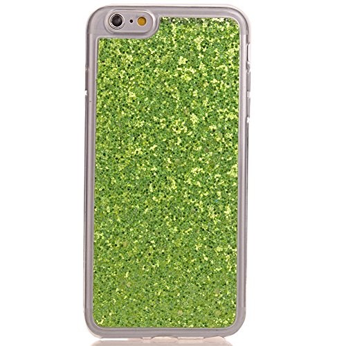 KM-WEN® Schutzhülle für Apple iPhone 6 Plus / 6s Plus (5,5 Zoll) Ultra-dünnes Mode Bling Shining Muster Slim Weiche TPU Case Cover Rückseite Schutzhülle Hülle für Apple iPhone 6 Plus / 6s Plus (5,5 Zo Grün