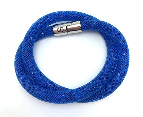 Swarovski donna-Bracciale vetro 38 cm - 518642, lega metallica, colore: capri blau, cod. 5186426