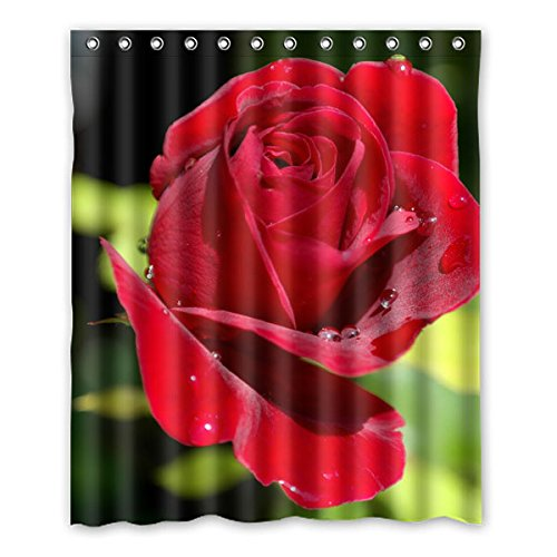 """152 cm x 183 cm (60 """"x72"""") Bagno Doccia Tenda, Red Roses Charme personalizzato Background Design Fashion Casual Shower Curtain muffa impermeabile"""