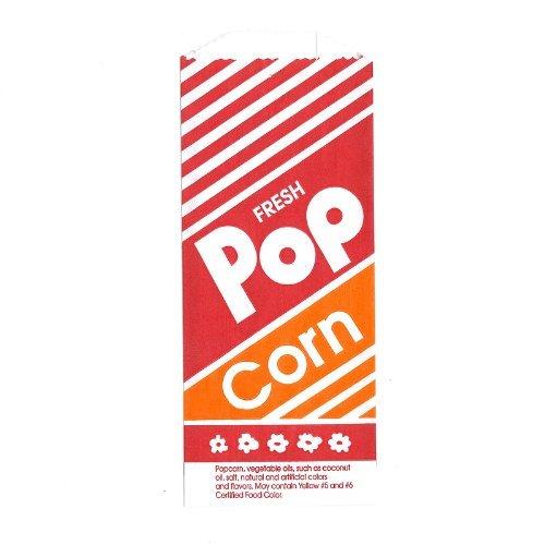 1 onza. Papel Bolsas de palomitas de maíz de 100 por caja Grande para los partidos / promociones