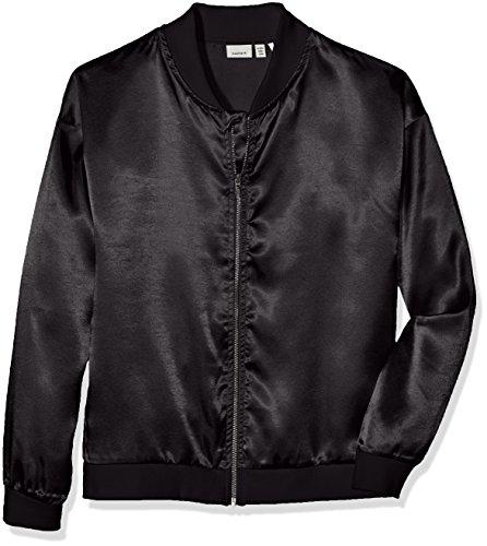 NAME IT Mädchen Jacke Nitidola Bomper Jacket Nmt, Schwarz (Black), 140 (Herstellergröße: 134-140) (Niedlich Jacket Varsity)