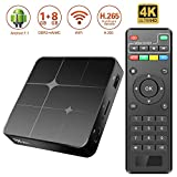 Android 7.1 TV Box Mini Boîtier TV [1GB RAM+8GB ROM] CPU Amlogic S905W Quad-Core 64 Bits Android Box avec HD/H.265 / 4K / 3D Smart TV Lecteur Multimédia