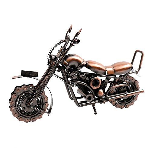 LER Amerikanische Retro- Harley-Motorradmetallmodellverzierungsverzierungen/Bürotischplatte/Bücherregal/Fernsehkabinettanzeige,Bronze,29 cm lang (Bronze Bücherregal)