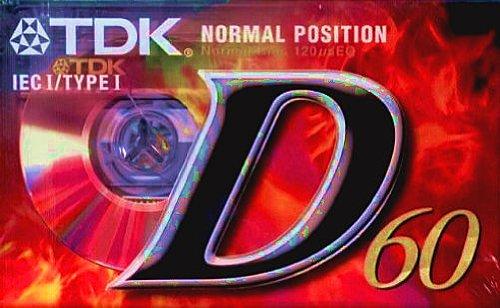 TDK D-60 EB Audio-Kassette (60min) 3er Pack -