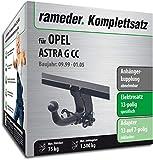 Rameder Komplettsatz, Anhängerkupplung abnehmbar + 13pol Elektrik für OPEL Astra G CC (116922-03405-4)
