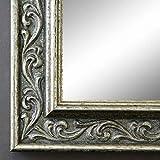 Online Galerie Bingold Spiegel Wandspiegel Badspiegel Flurspiegel Garderobenspiegel - Über 200 Größen - Verona Silber 4,4 - Außenmaß des Spiegels 60 x 80 - Wunschmaße auf Anfrage - Antik, Barock