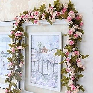 Omufipw Guirnalda de flores artificiales para casa, jardín, boda, fiesta, decoración de plantas