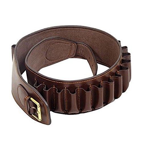 Guardian Canterbury Leather - 12 gauge bore pocket - shotgun belt - 23 cartridge -