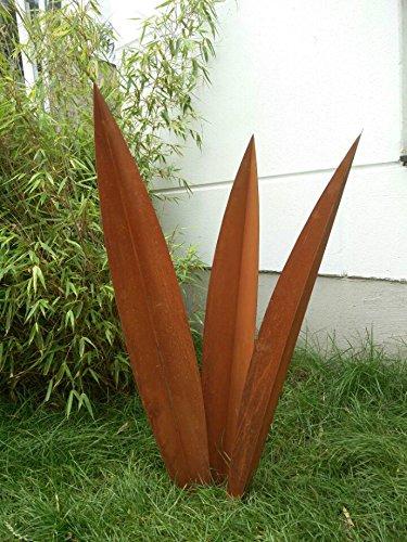 Edelrost Gartenstecker Rost Gartenskulptur aus Metall Garten Figure Glück Symbol Gartendeko 101501 H100 90 80 cm inset