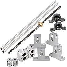 BQLZR Horizontal lineal de 300 mm de eje ¨®ptico y 8 mm varillas de plomo con tuercas Linear Slide bloque y Stepper Acoplador Dual Rail Support Set